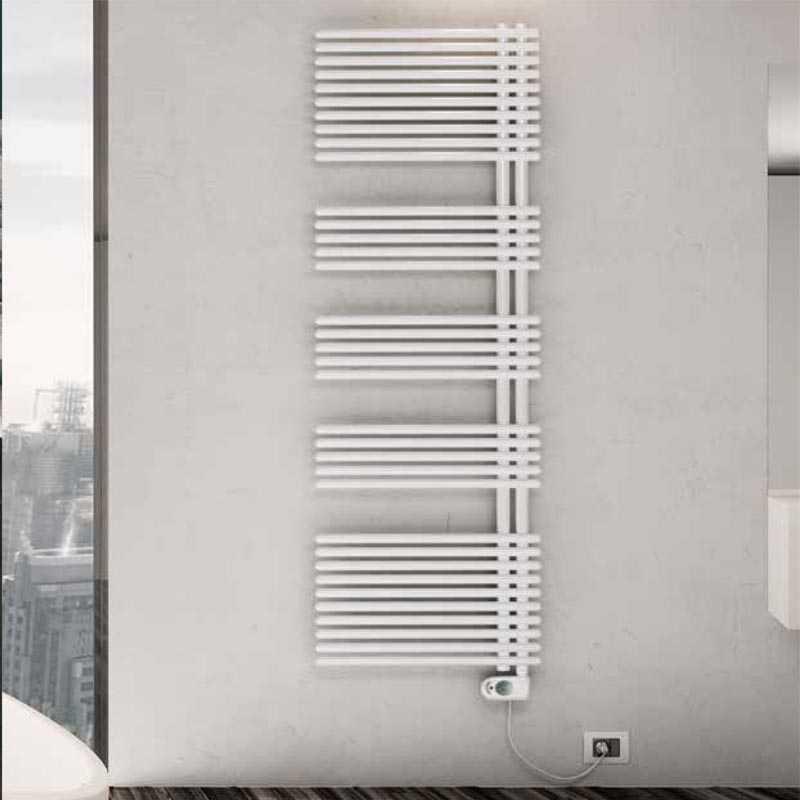 Termoarredo elettrico bianco Lazzarini E-Garda a 25 tubi resistenza 600 watt