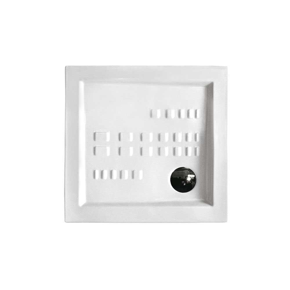 Piatto doccia quadrato Althea Ito cm 90x90 ceramica bianca foro diametro cm 8,5 spessore cm 5,5
