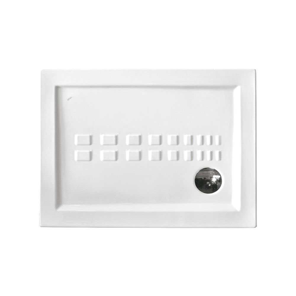 Piatto doccia rettangolare Althea Ito cm 70x100 ceramica bianca foro diametro cm 8,5 spessore cm 5,5