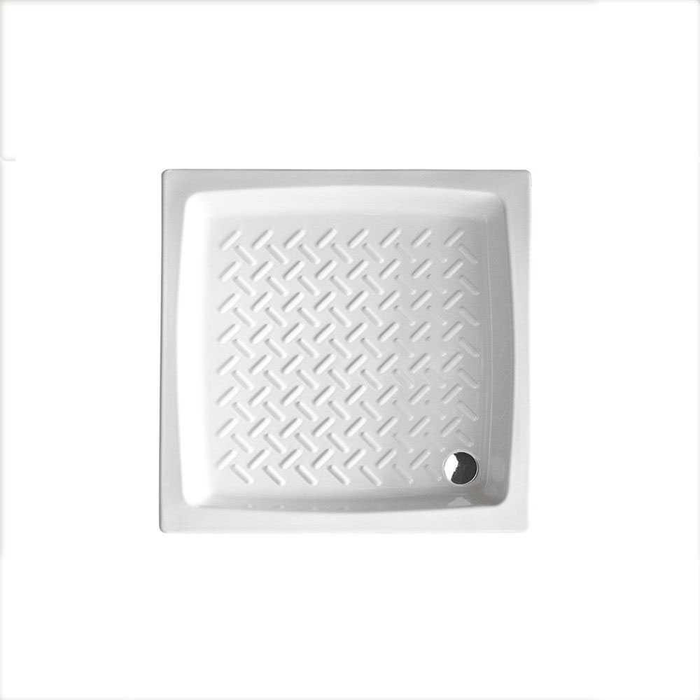 Piatto doccia quadrato Althea Hera 72x72 ceramica bianca altezza 11 cm