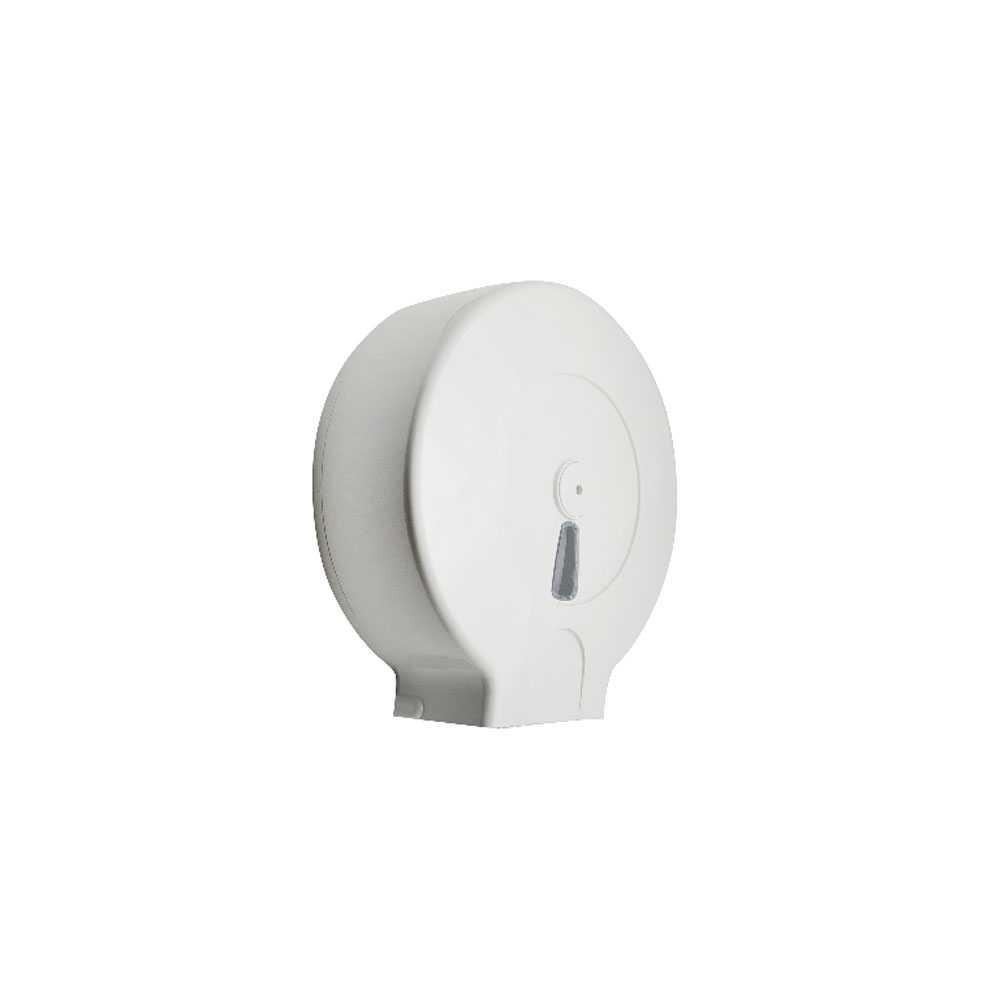 Distributore rotolo carta igienica abs bianco per rotolo con diametro max 30 cm