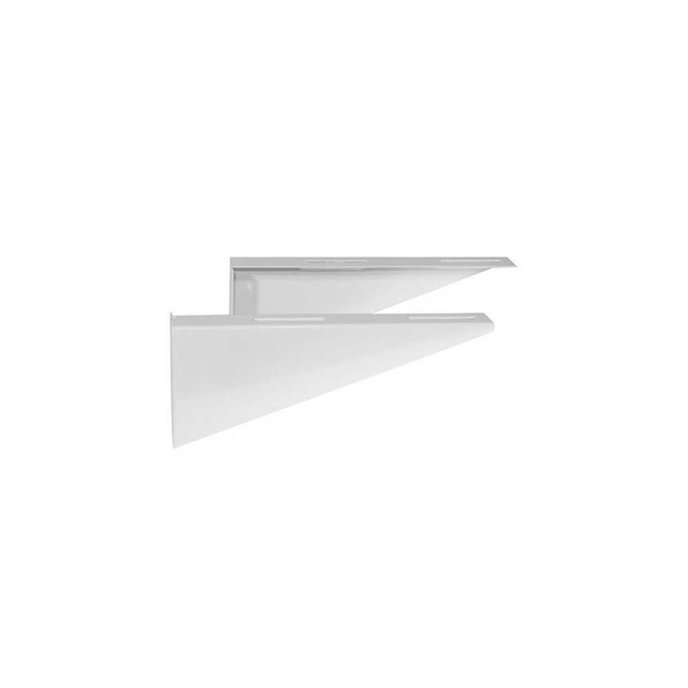Staffe fisse lunghezza di 35,5 cm colore bianco ideali per lavabo disabili cod. 152-C100