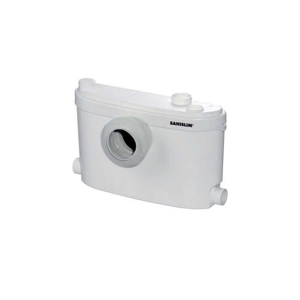 Cassetta trituratrice Sanislim per evacuare acque di scarico di wc, doccia, lavabo e bidet