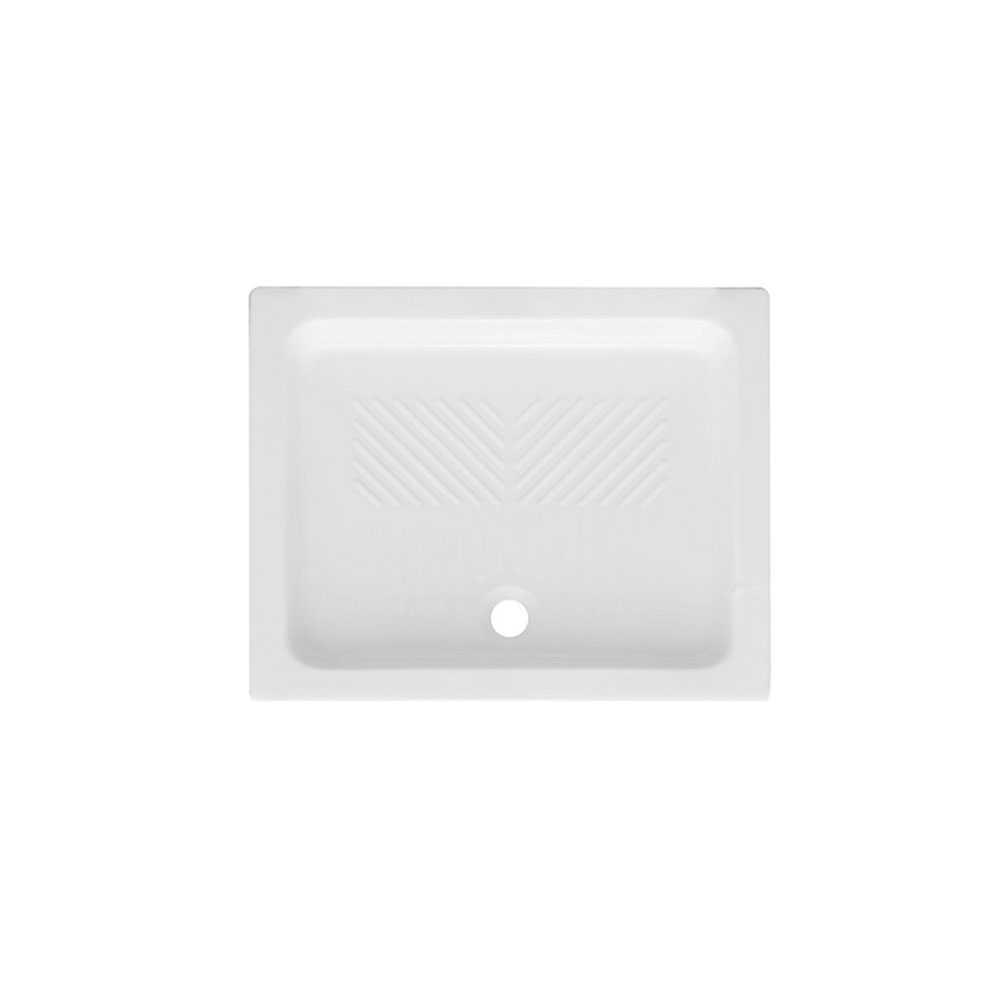 Piatto doccia rettangolare ceramica bianca 70x100 con antiscivolo integrato