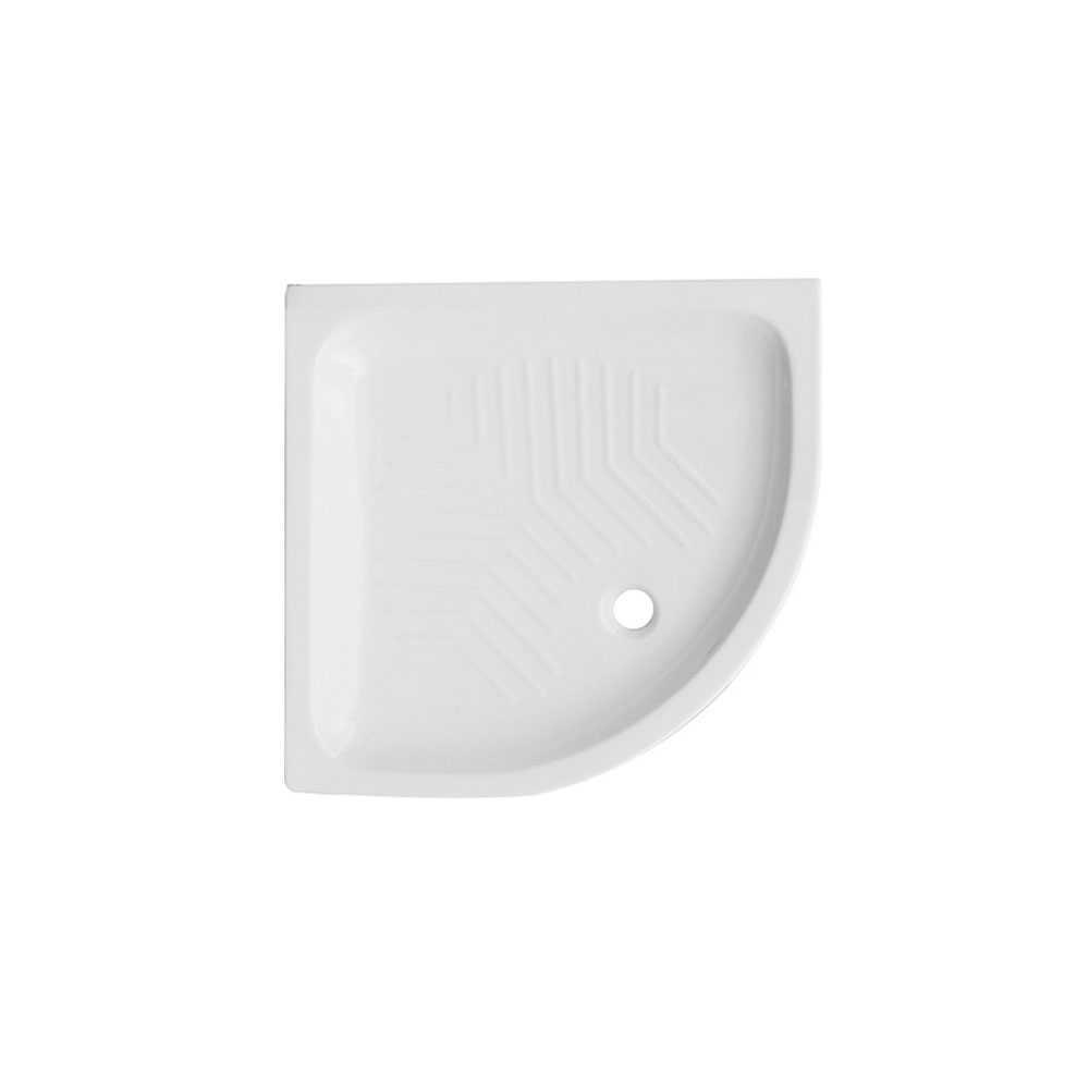 Piatto doccia angolare ceramica bianca 90x90 con antiscivolo integrato
