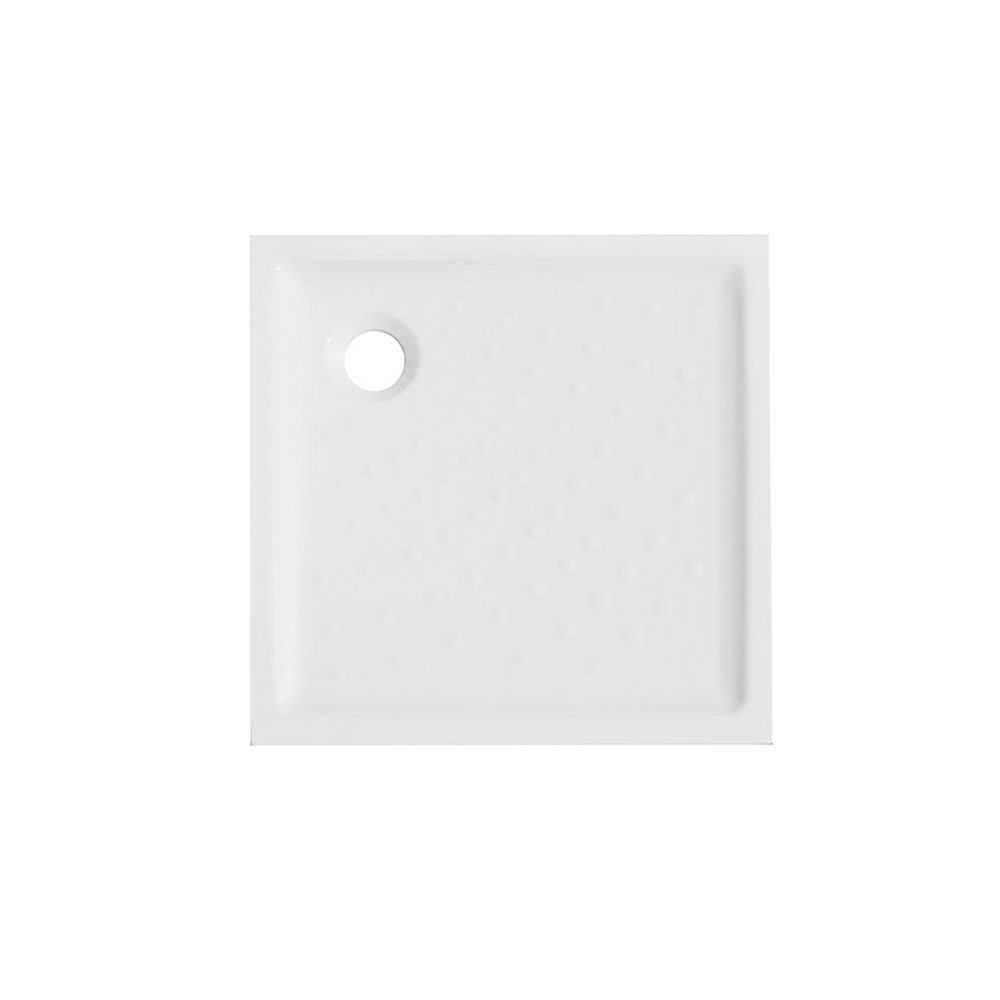 Piatto doccia quadro ceramica bianca 70x70 con altezza 6 cm