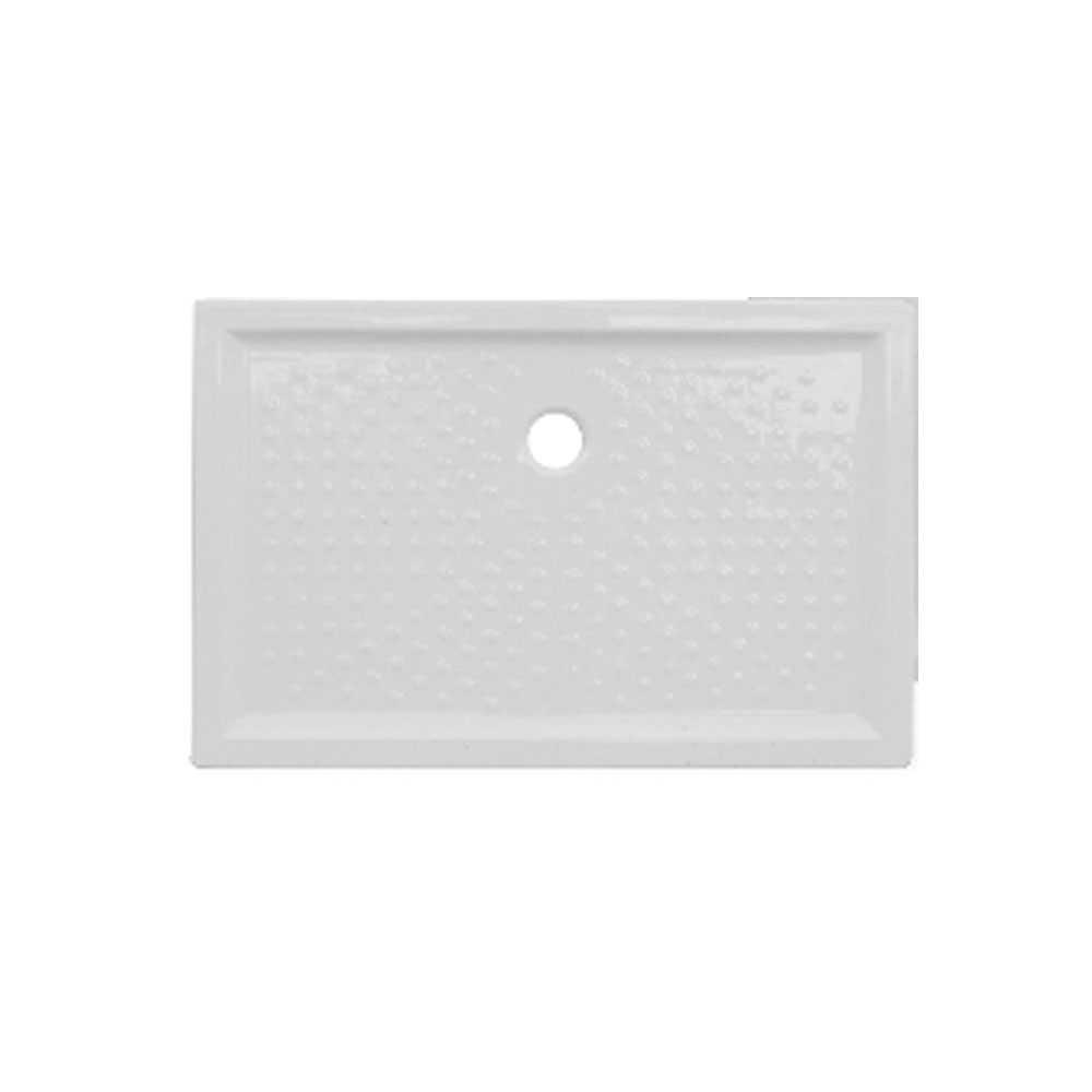 Piatto doccia rettangolare ceramica bianca 72x90 con altezza 6 cm