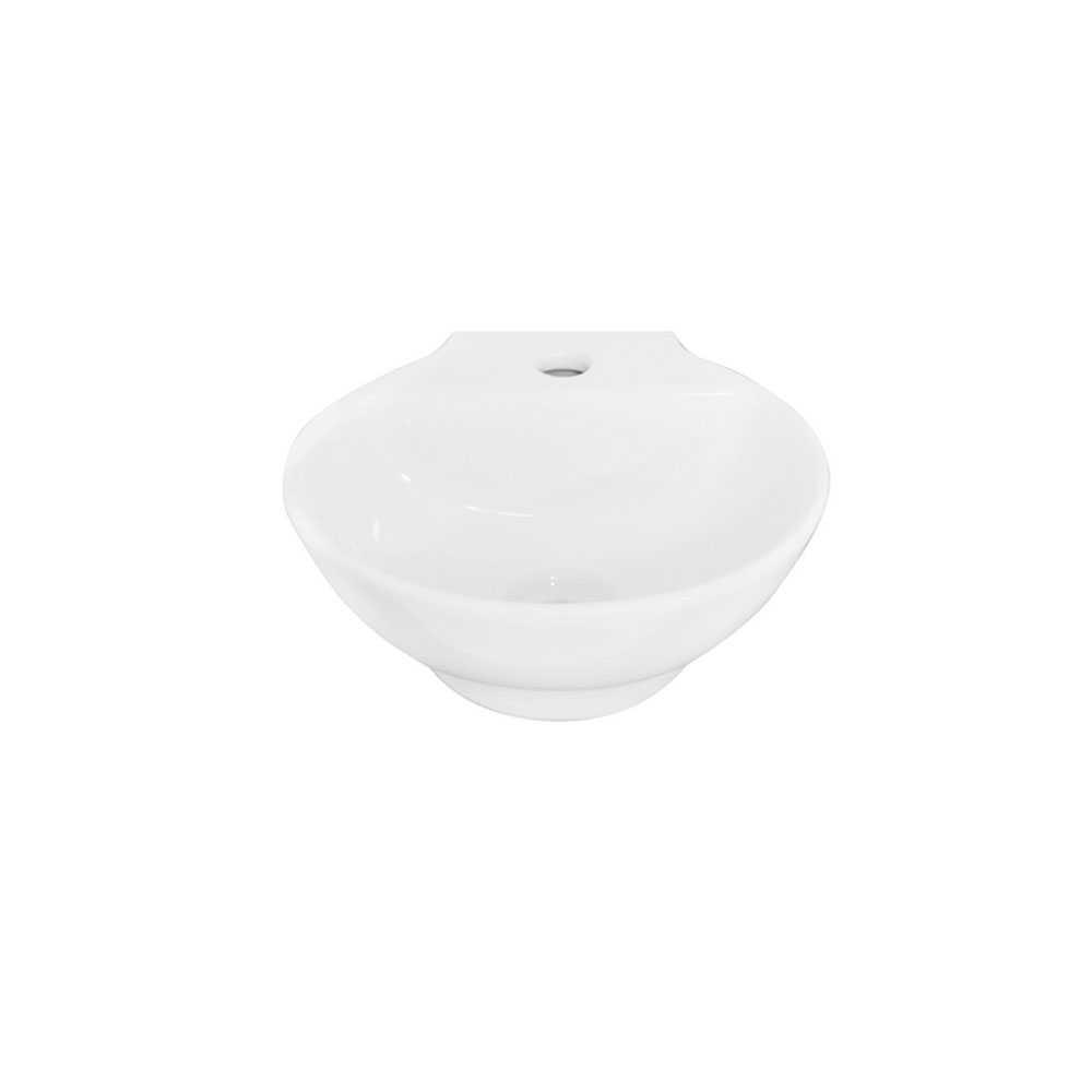 Lavabo a parete Linpha LP706 ceramica bianca 31x31 altezza 12,5 cm