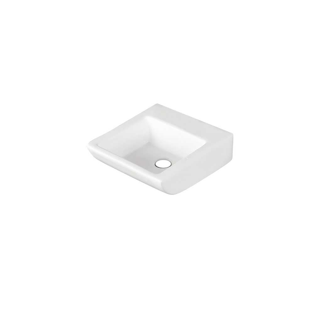 Lavabo rettangolare Linpha LP707 ceramica bianca 41x43 altezza 15 cm