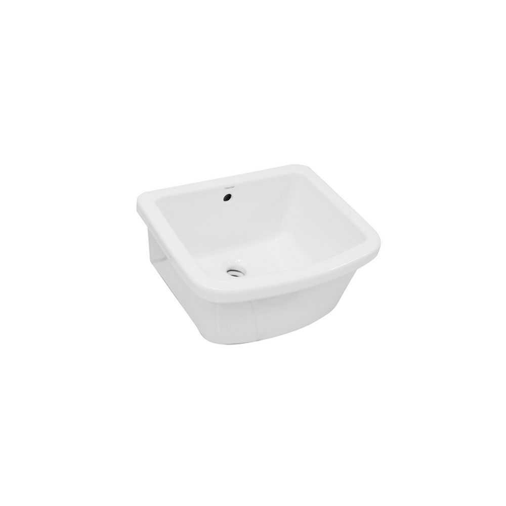Pilozzo in ceramica bianca con troppopieno 47x40 senza strizzatoio