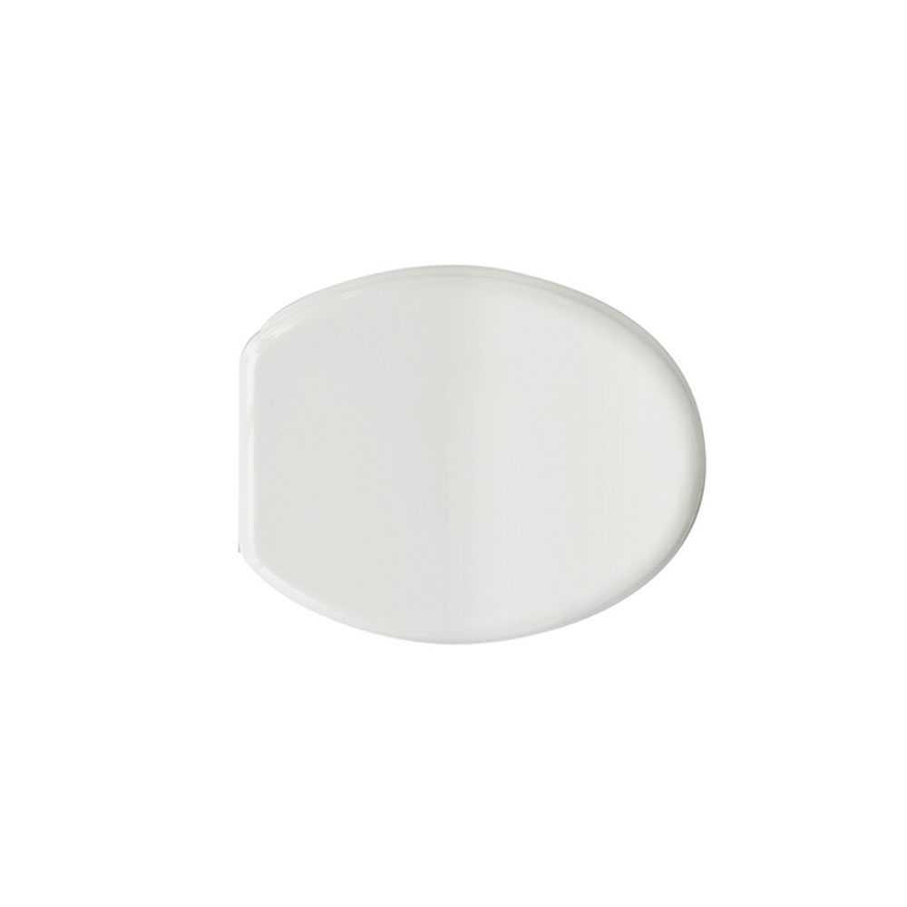 Sedile wc universale antigraffio Milano in MDF stampato bianco larghezza 36,7 cm cerniere regolabili