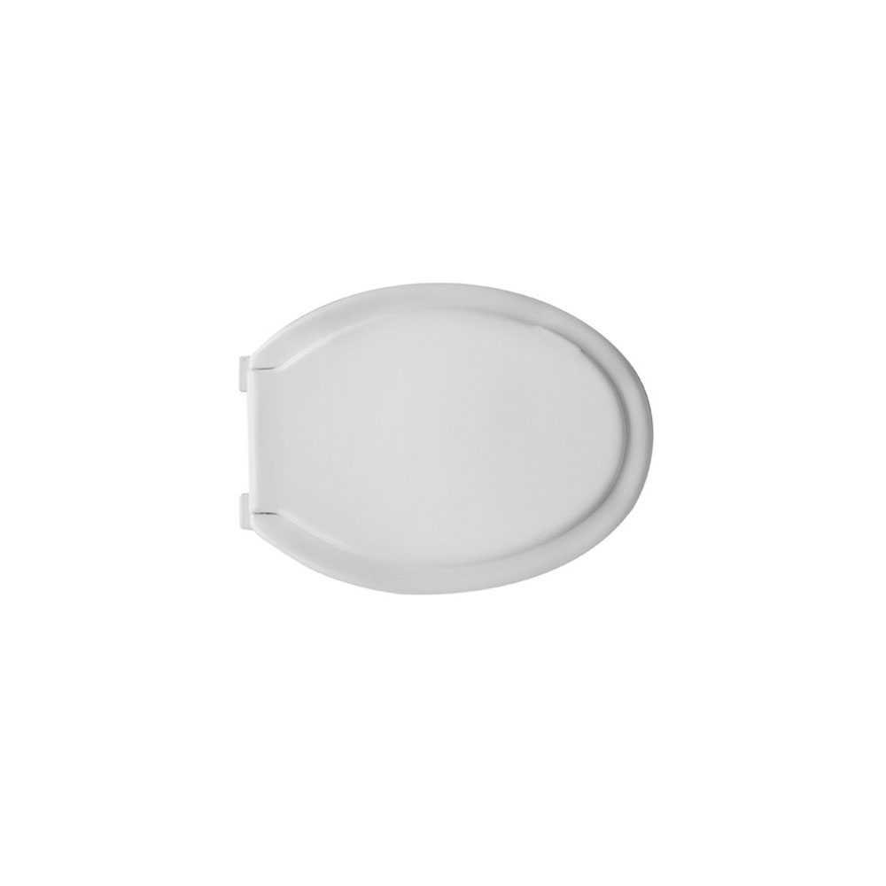 Sedile universale per wc in polipropilene bianco larghezza 37,2 cm cerniere in pvc