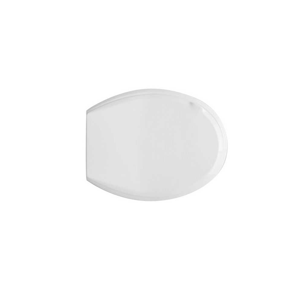 Sedile wc universale Etna in resina infrangibile con maniglia di sollevamento coperchio