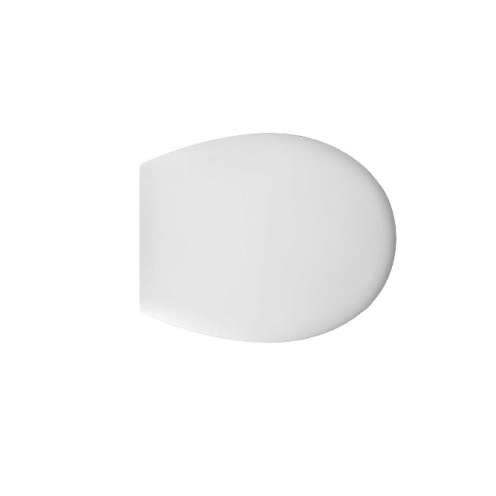 Sedile wc universale D031 termoindurente bianco con cerniere regolabili