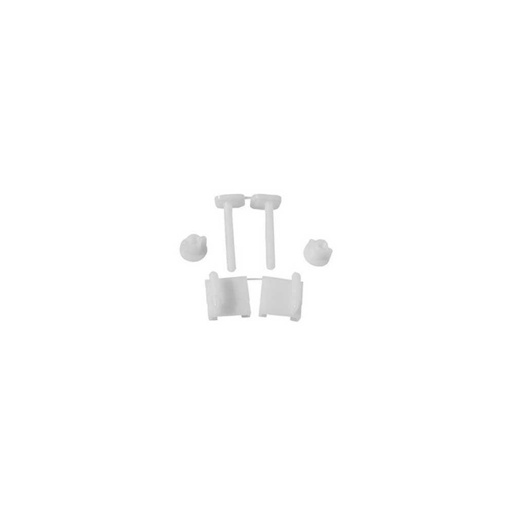 Coppia supporti per sedili in pvc con viti in plastica