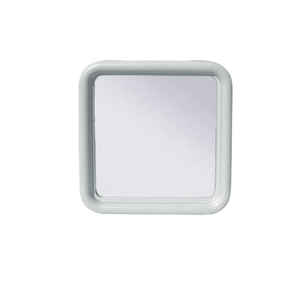 Specchio quadro Silvia serie Imma 50x50 cm ABS bianco