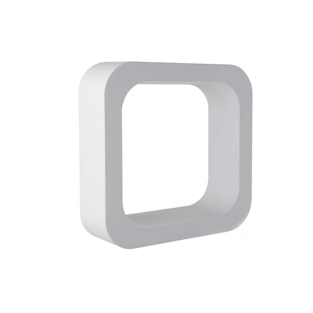 Mensola lettering organizer modello O  h. 290 mm colore latte
