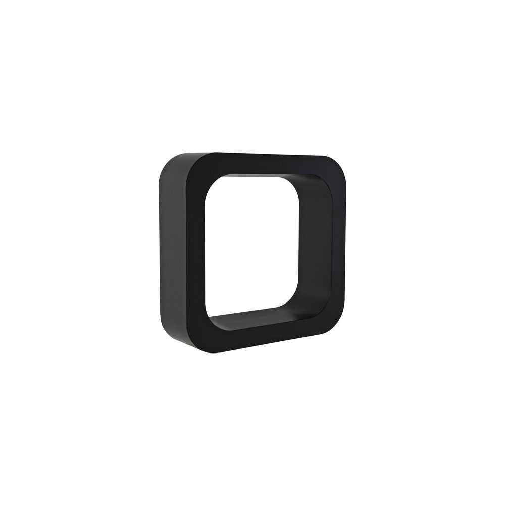 Mensola lettering organizer modello O  h. 290 mm colore liquirizia