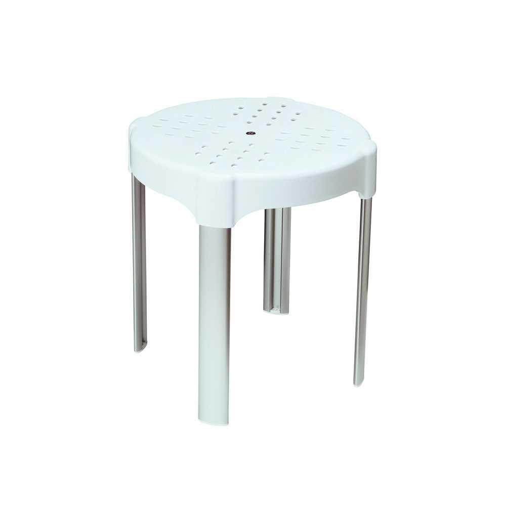 Sgabello alluminio anodizzato Metaform Comfort altezza 40 cm