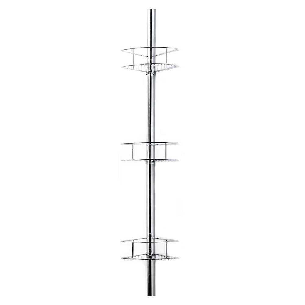 Portaoggetti doccia estensibile Metaform Spider 4 a 3 piani regolabili in altezza