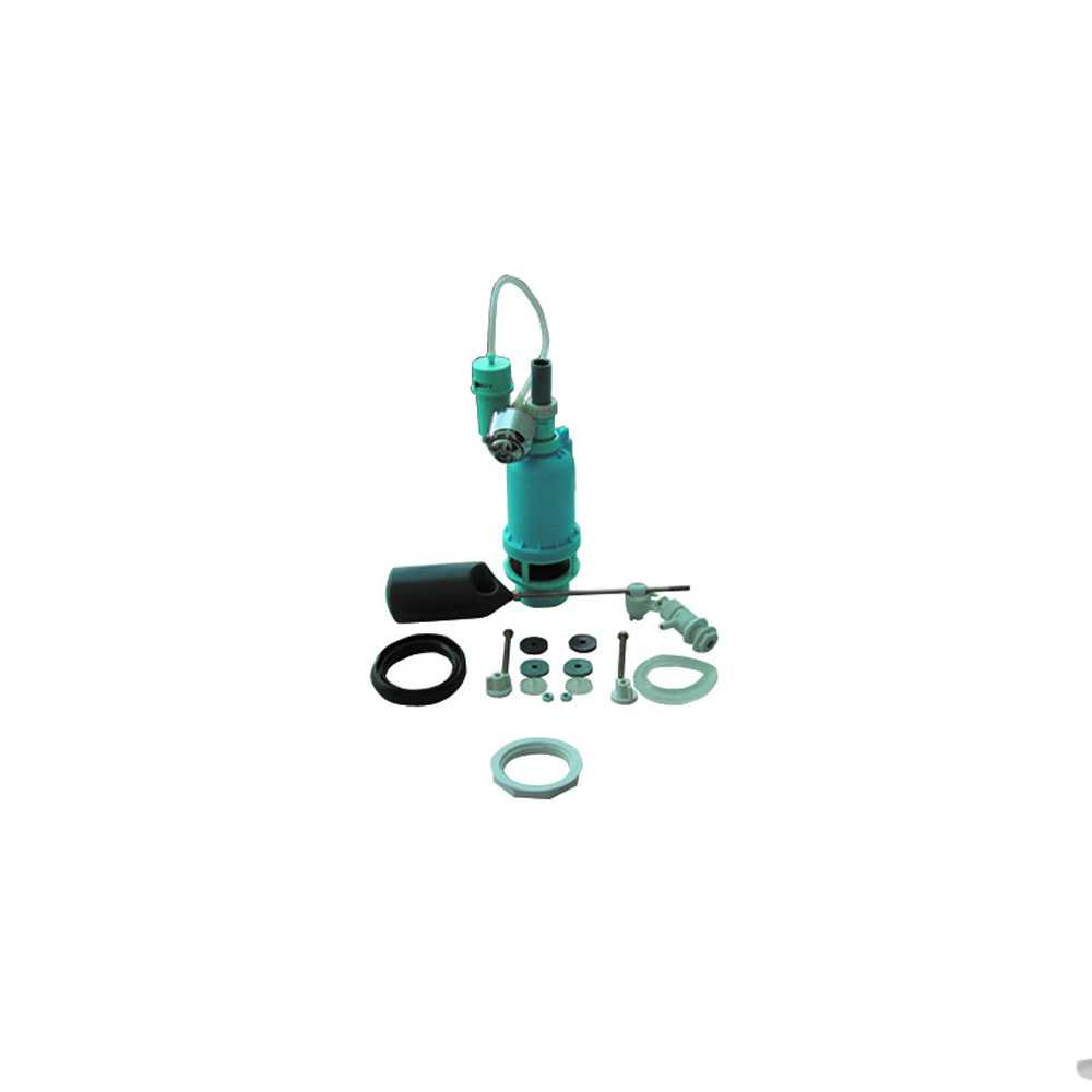 Meccanismo per batteria di scarico ad aria con attacco laterale e pulsante cromo