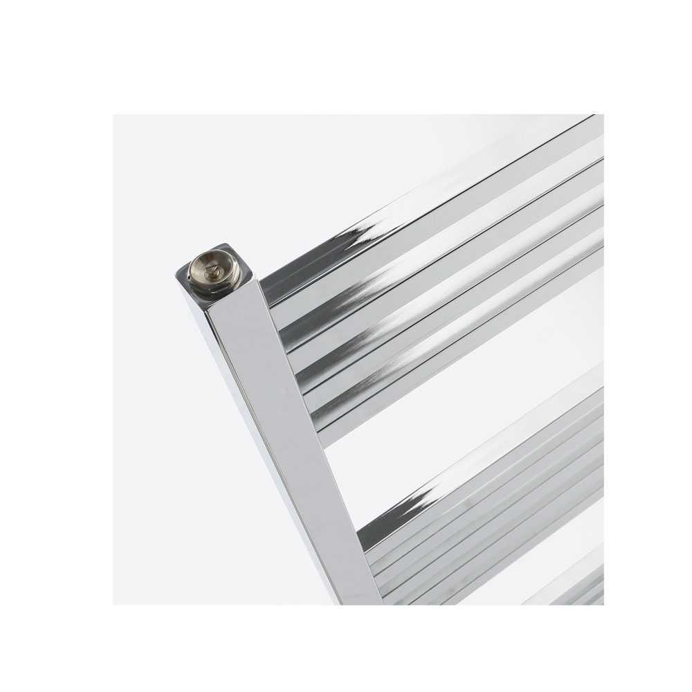Termoarredo design cromo Aton tubi  quadrati orizzontali altezza 1000 mm