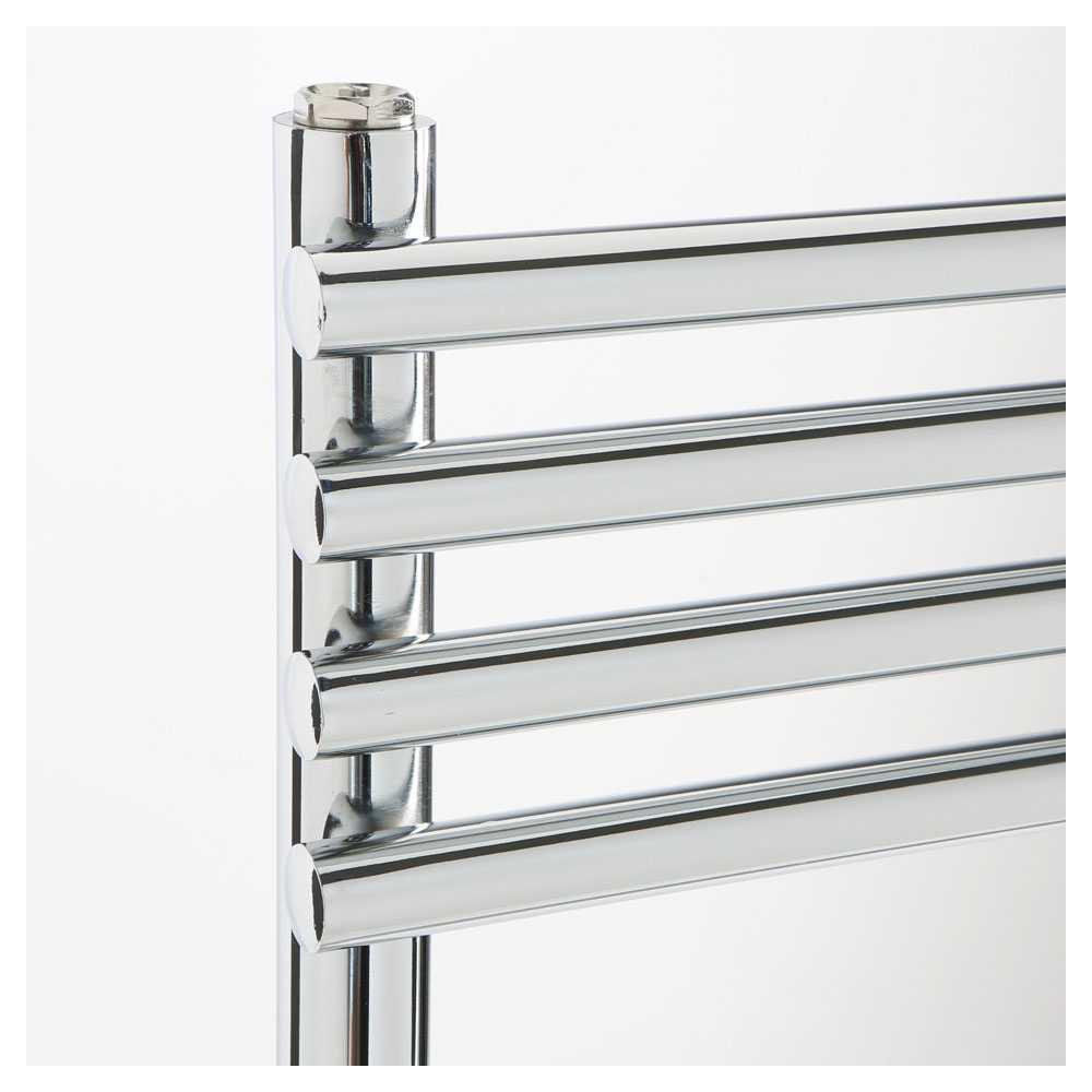 Termoarredo design acciaio cromo Aton tubi tondi orizzontali altezza 1100 mm