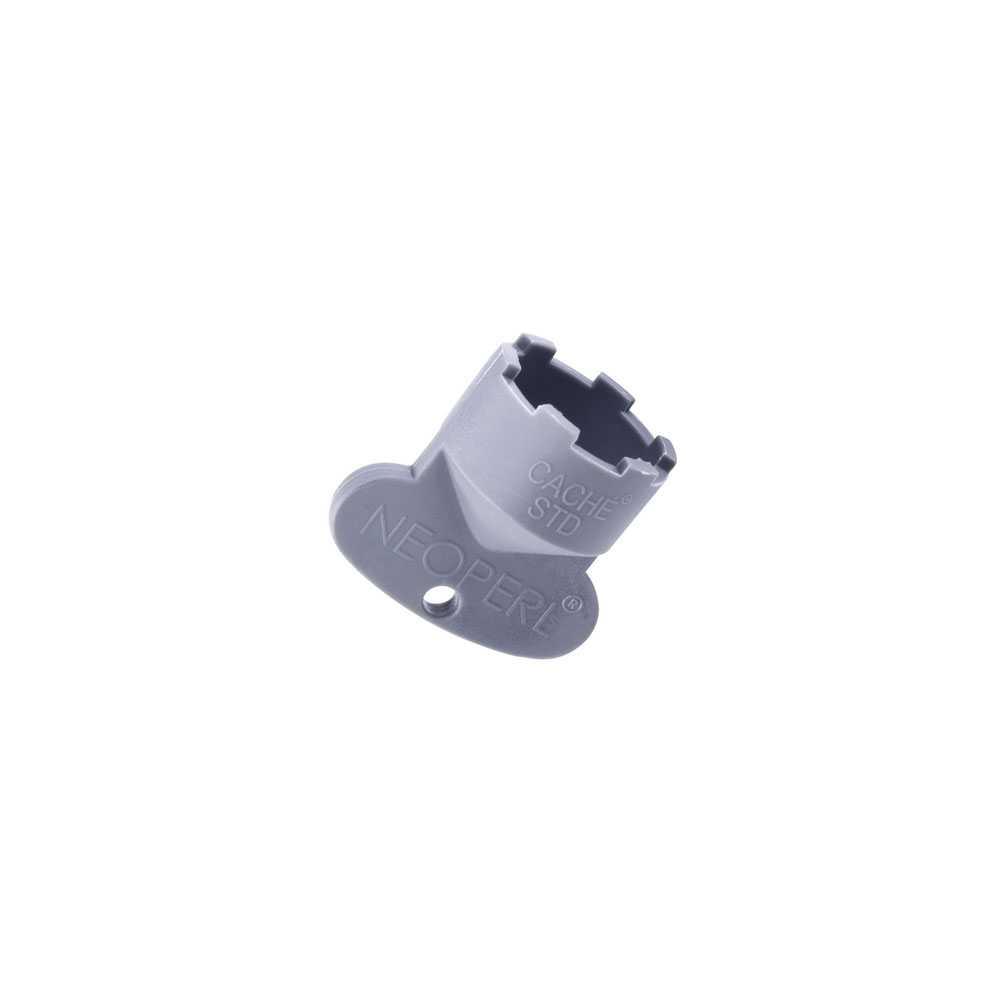 Chiave cache' STD  M 24 x 1 in plastica grigia firmata  Neoperl