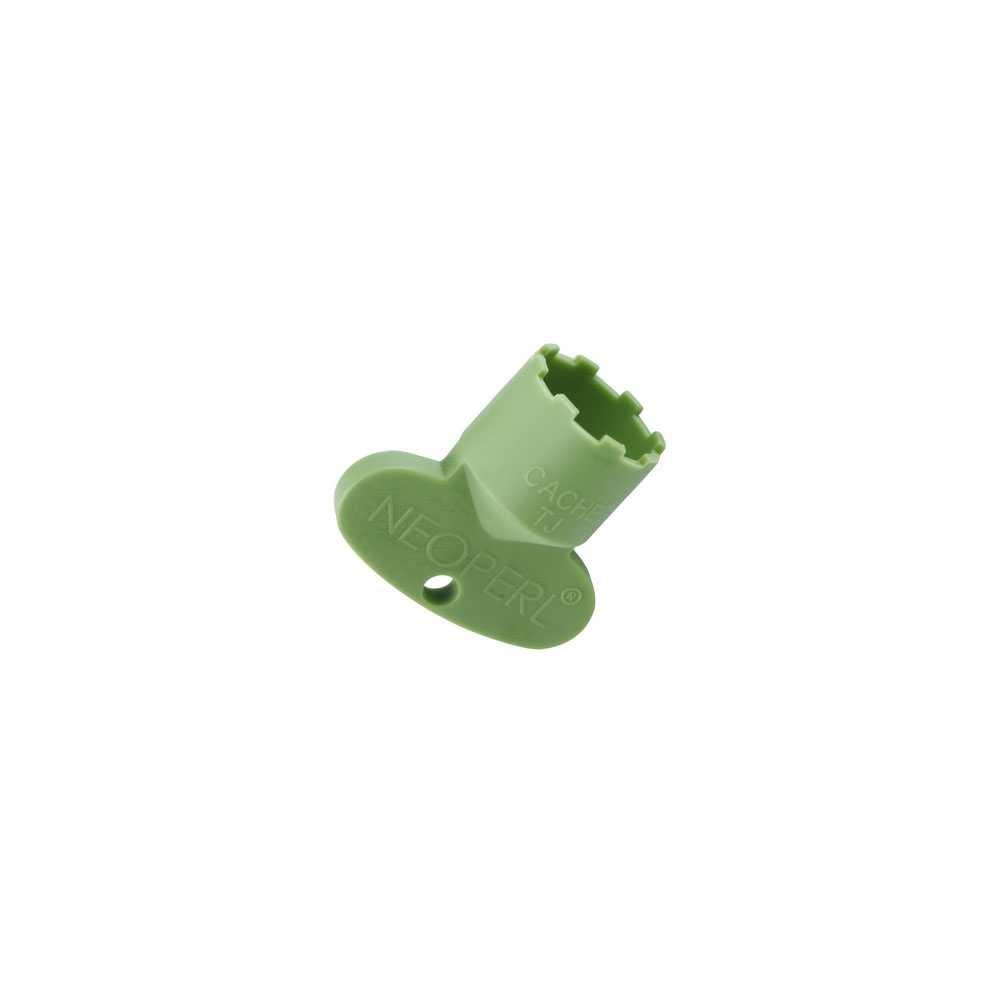 Chiave cache' TJ M 18.5 x 1 in plastica verde firmata Neoperl