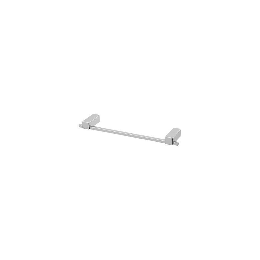 Portasciugamani cromo serie Unica lunghezza 30 cm con pistrine antiruggine