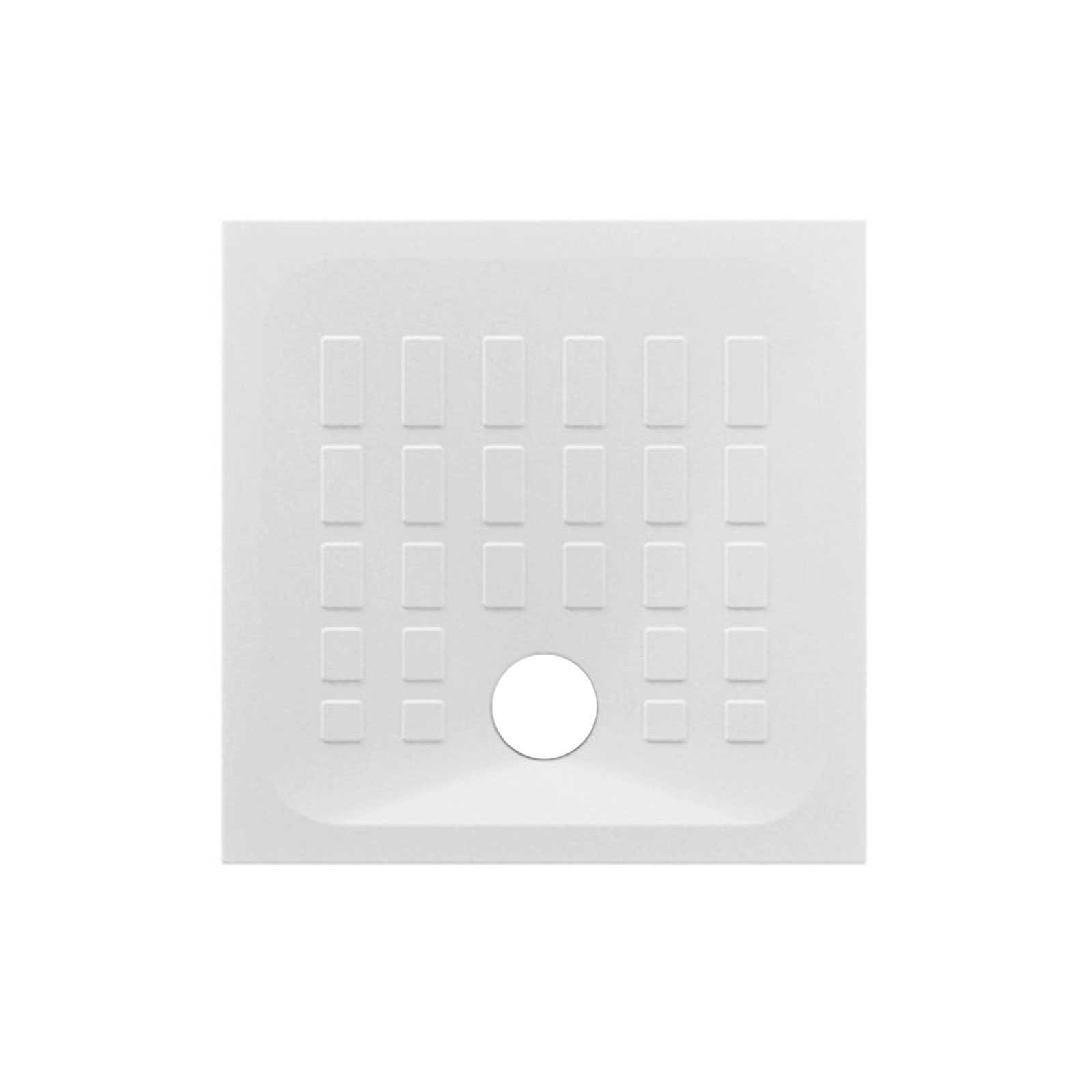 Piatto doccia in ceramica bianco lucido 80x80 Azzurra modello Cube con antiscivolo