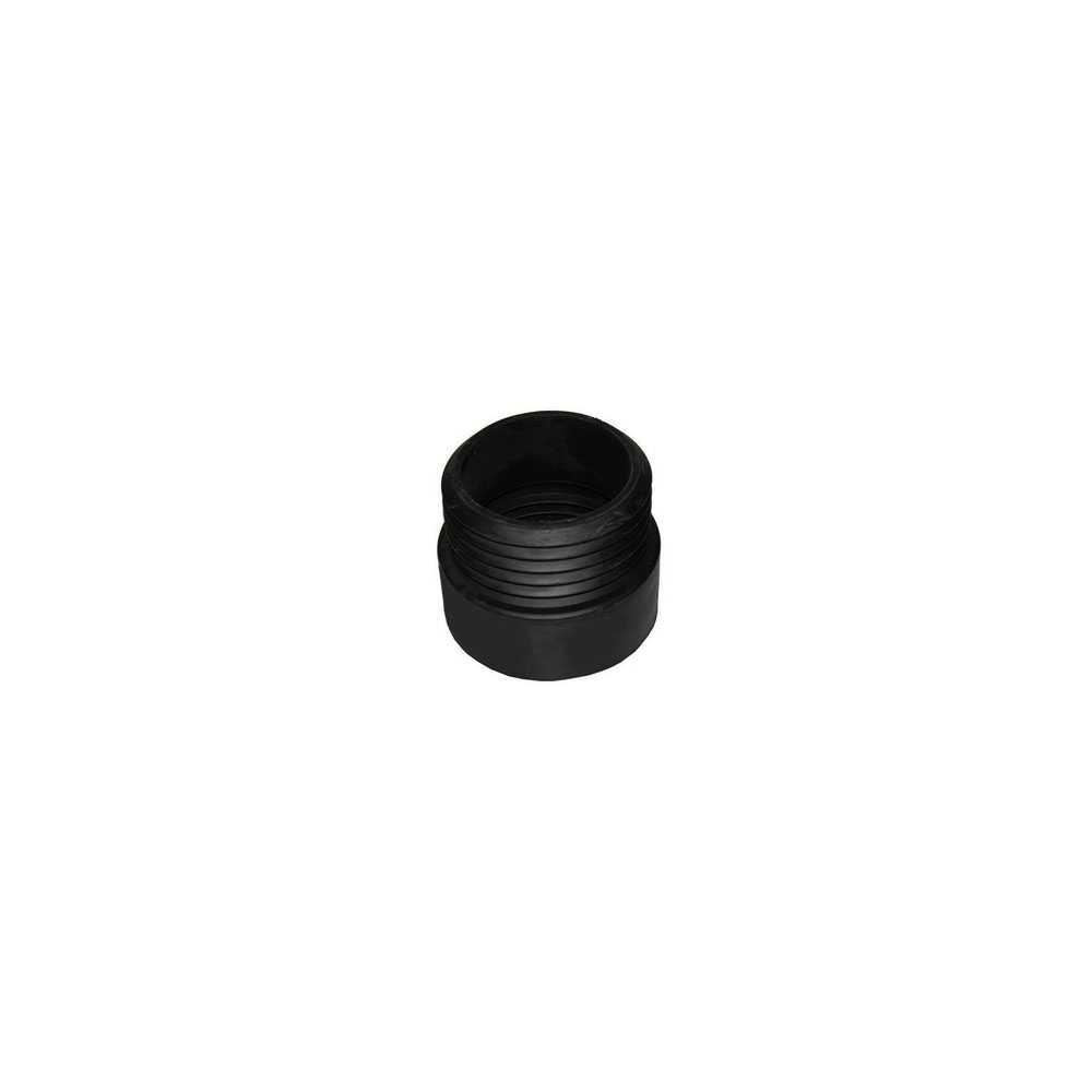 Prolunga wc dritta in gomma nera diametro esterno 110 mm