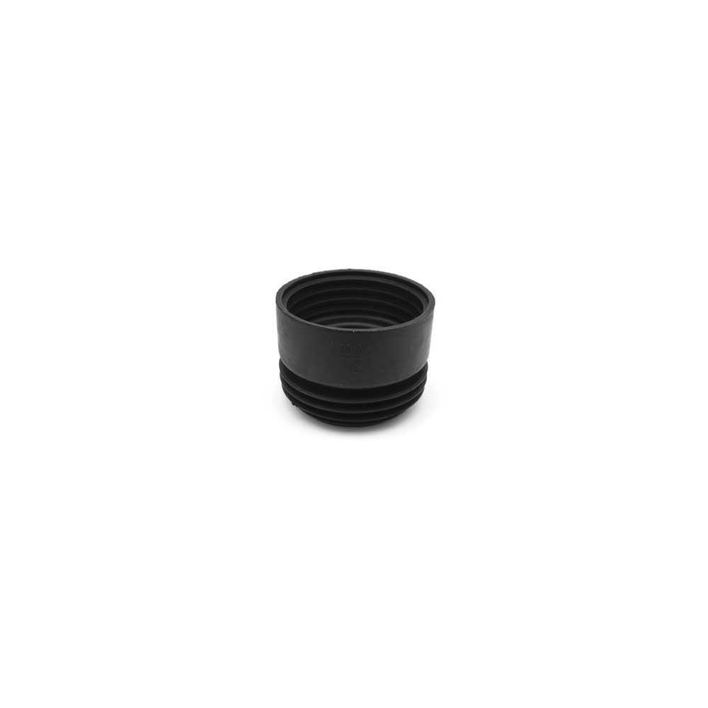 Prolunga wc in gomma nera per braghe diam. 100/110