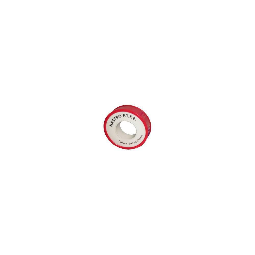 Rotolino nastro Teflon PTFE economico 12x10 mm x 0,076