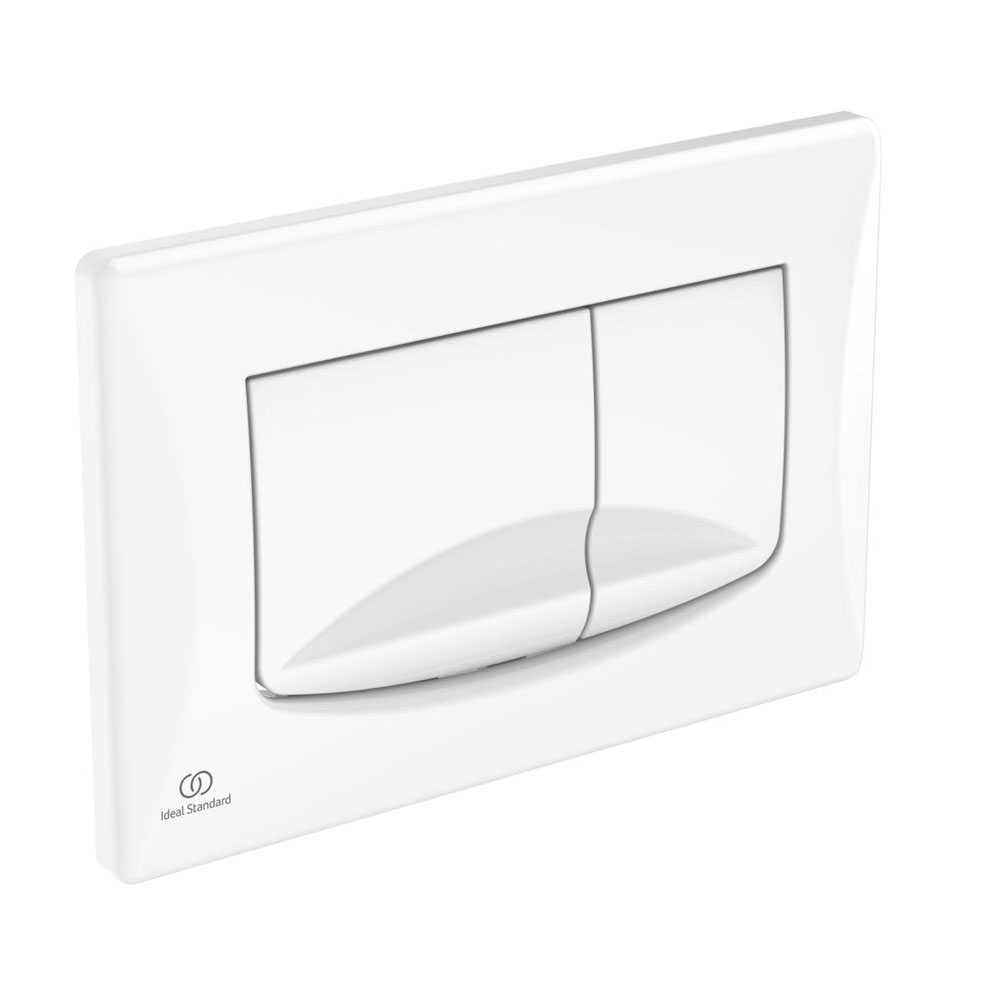 Placca di comando bianca per azionamento risciacquo Ideal Standard Solea M2