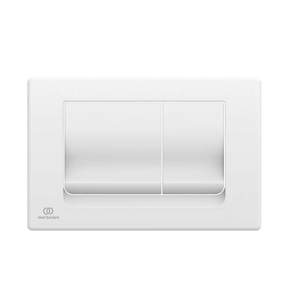 Placca di comando bianca per azionamento risciacquo Ideal Standard Solea M1
