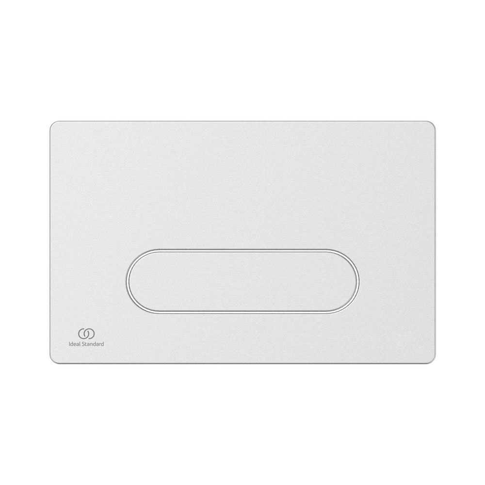 Placca di comando bianca per azionamento risciacquo Ideal Standard Oleas M4