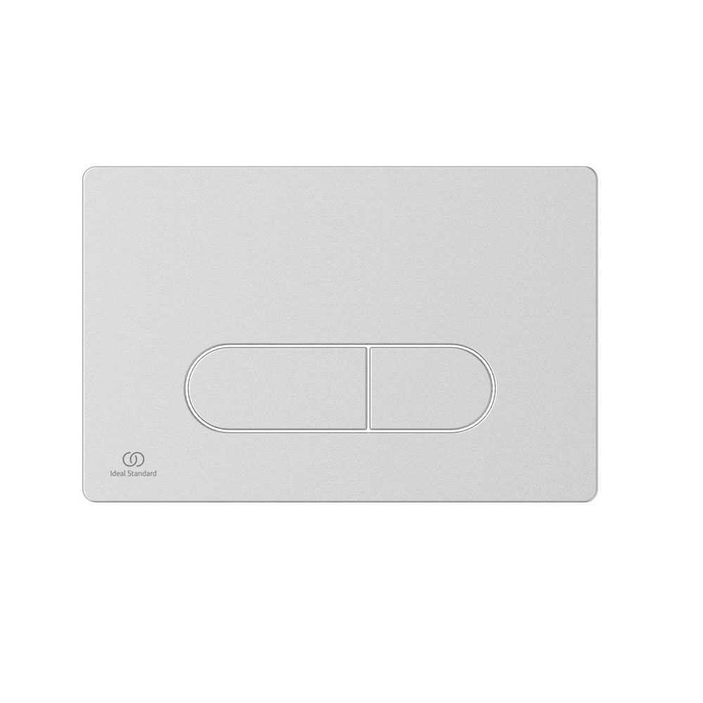 Placca di comando bianca per azionamento risciacquo Ideal Standard Oleas M1