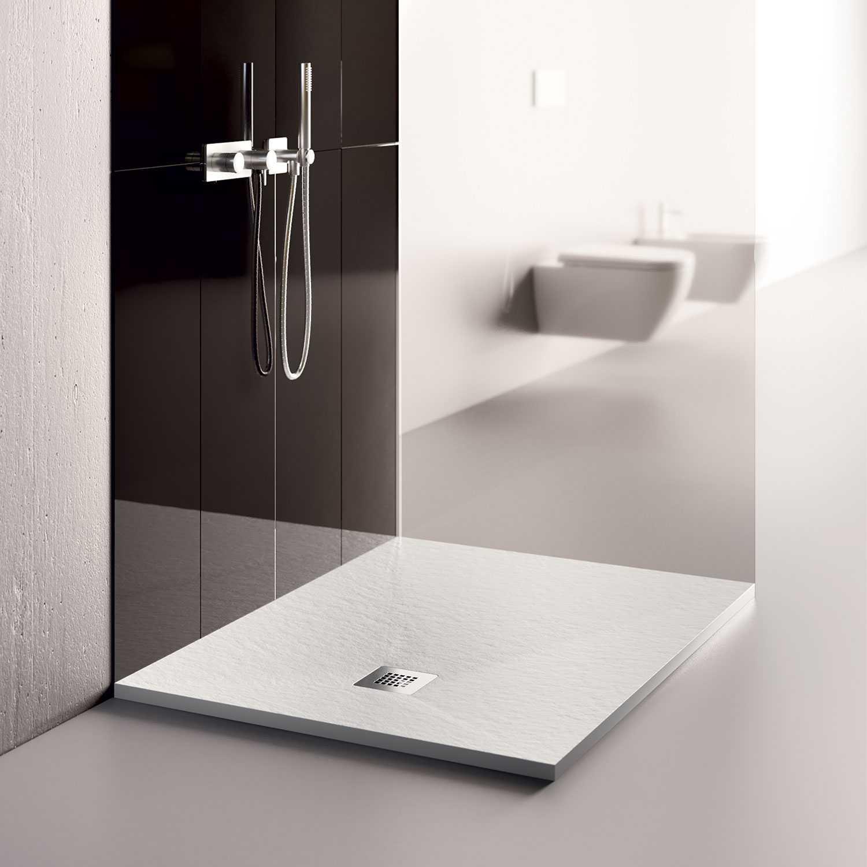 Piatto doccia in Eco Stone 70x90 Althea London colore bianco colorato in massa antiscivolo