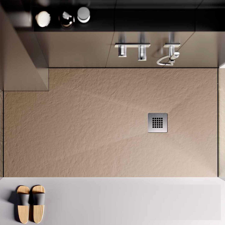 Piatto doccia in Eco Stone 80x80 Althea London colore sabbia colorato in massa antiscivolo
