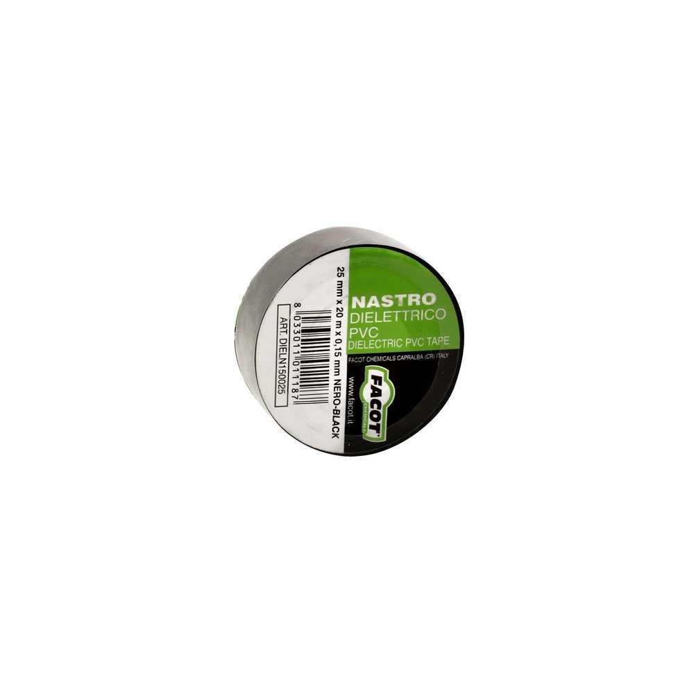 Nastro adesivo H. 38x25x0,13 mm con supporto in pvc conforme norme CEI 15/15