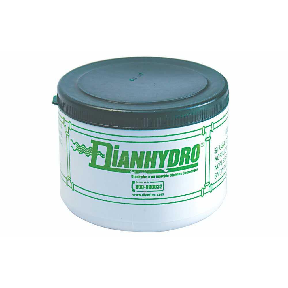 Barattolo da 450 gr di mastice antibloccante verde per raccordi filettati