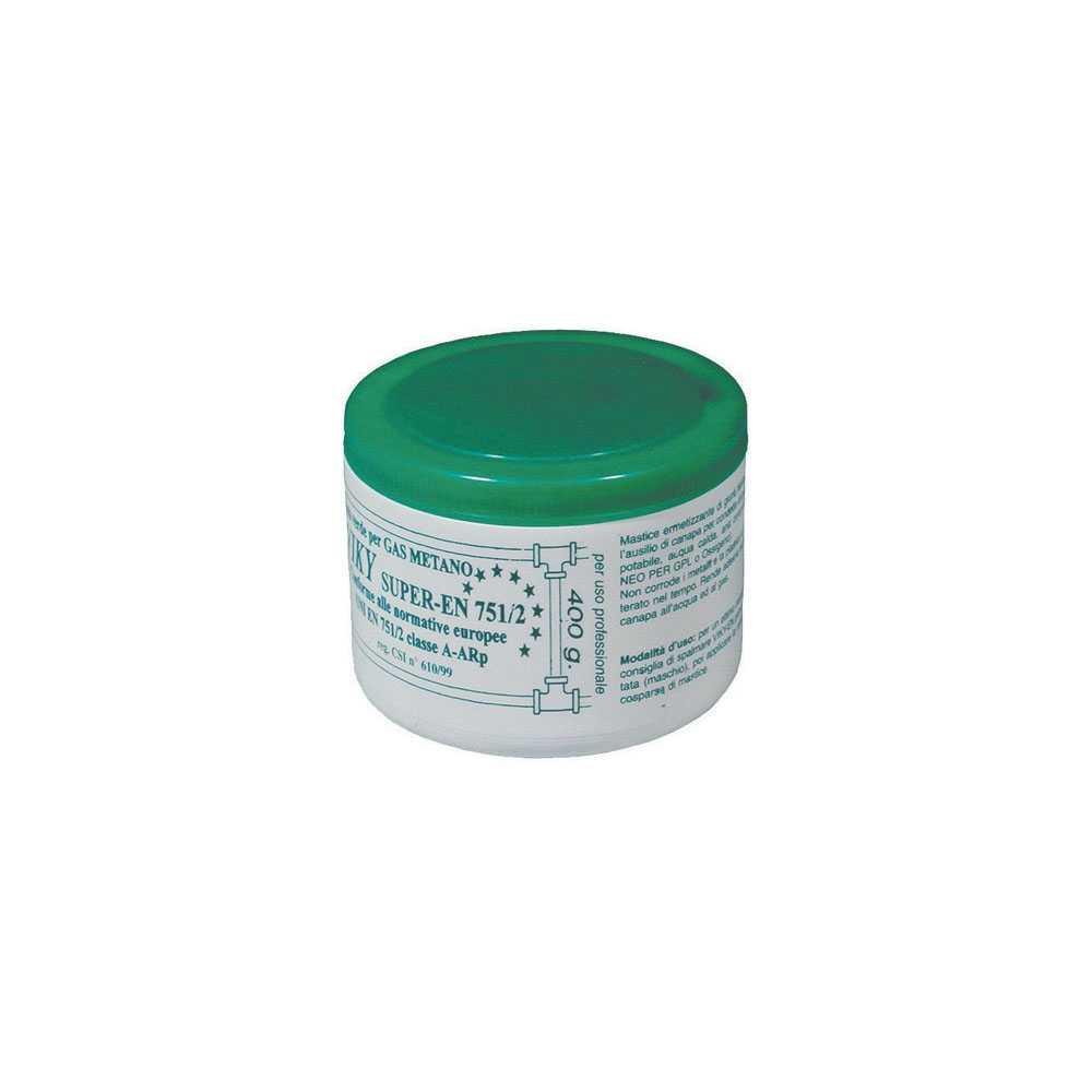 Barattolo da 400 gr di pasta verde morbida per gas metano e acqua