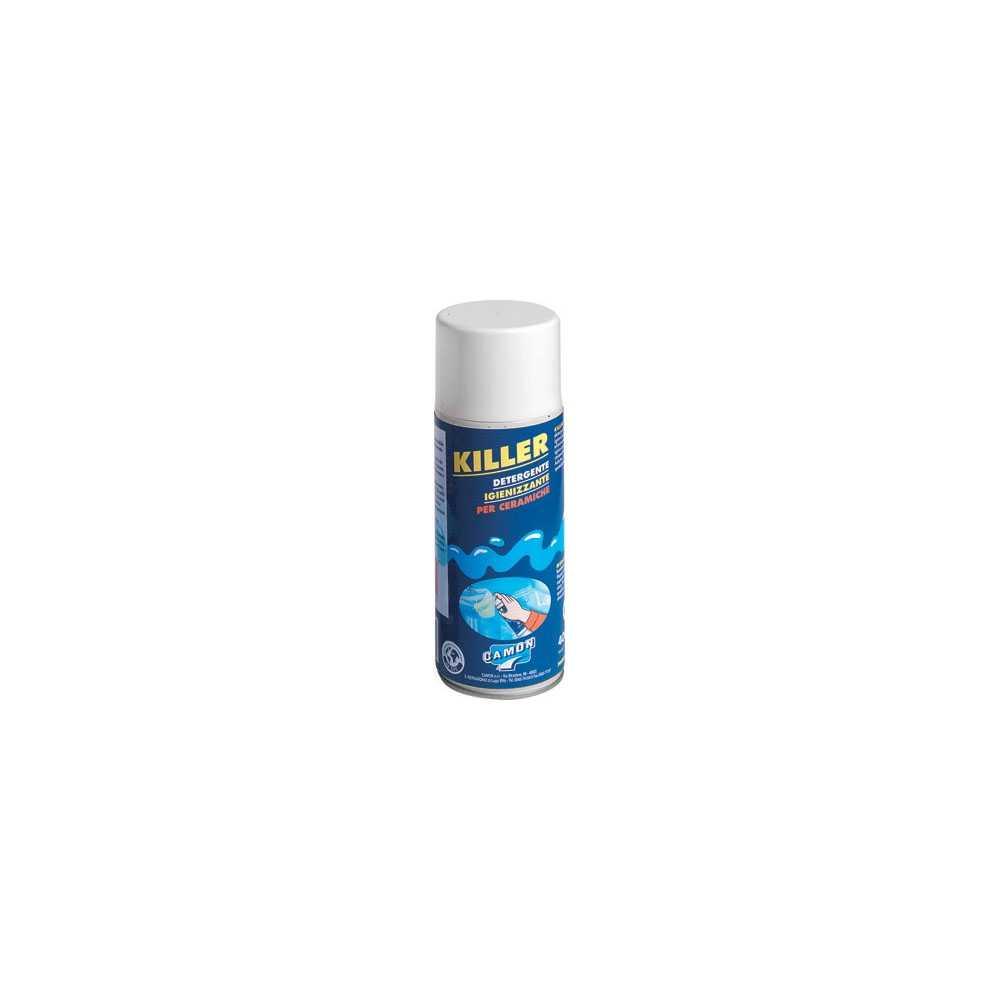 Detergente sgrassante spray 400 ml Killer ideale per ceramica da bagno