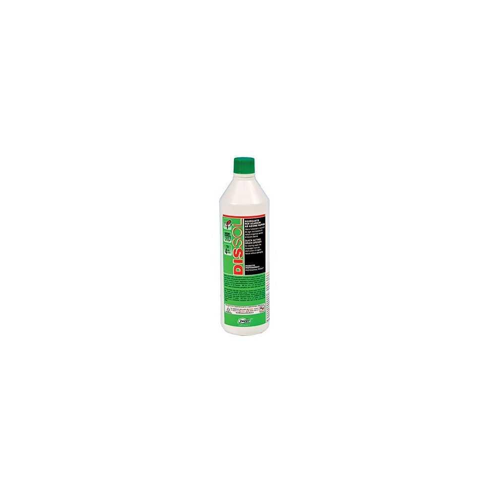 Sgorgante Dissol da 1 litro ideale per disotturare water, lavandini e scarichi industriali