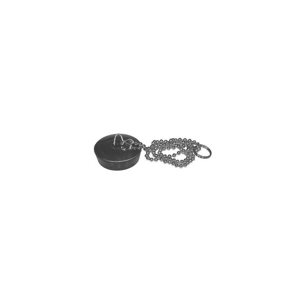 Tappo in gomma nera per vasca misura media diam. 40 mm