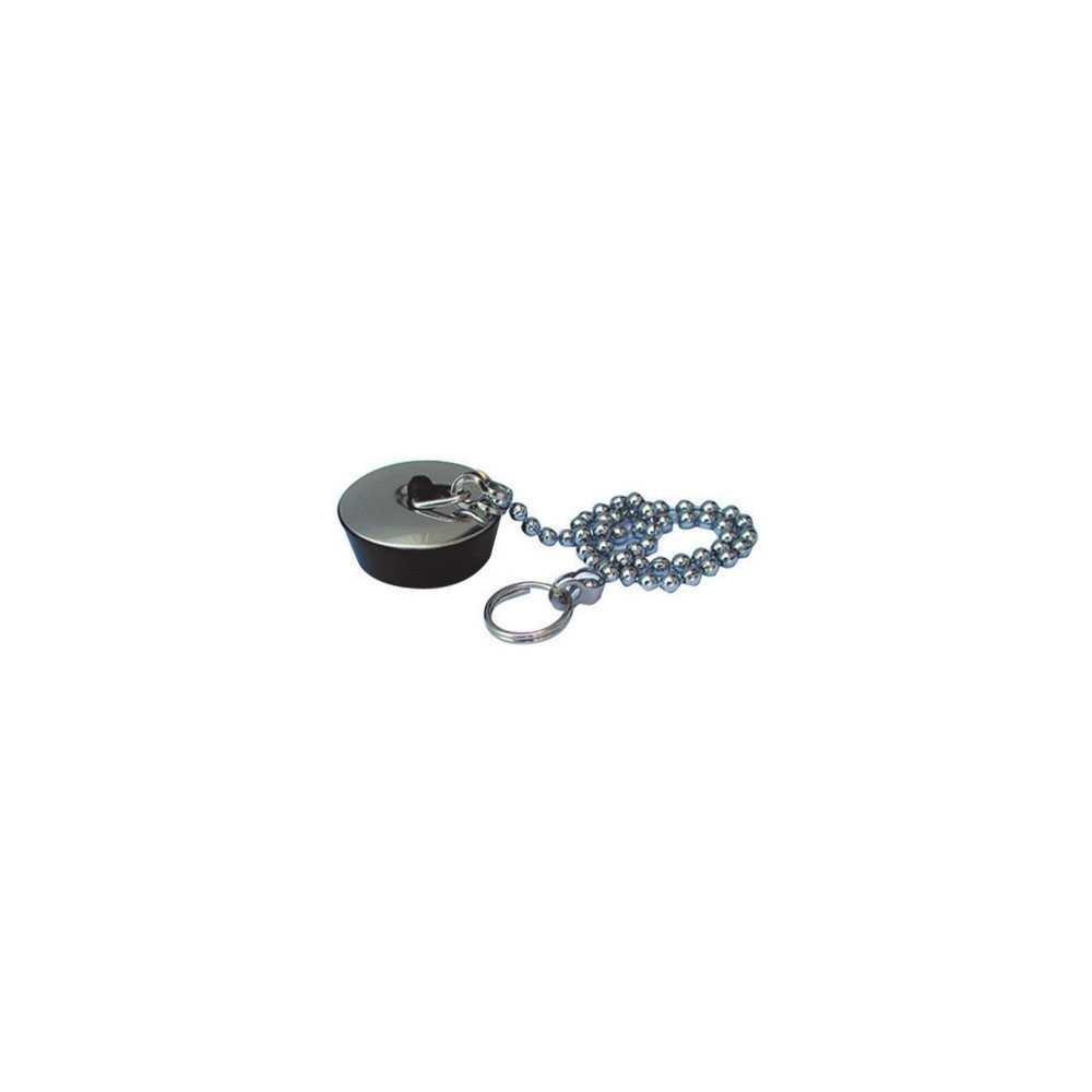 Tappo in gomma nera per vasca misura piccola diam. 31 mm