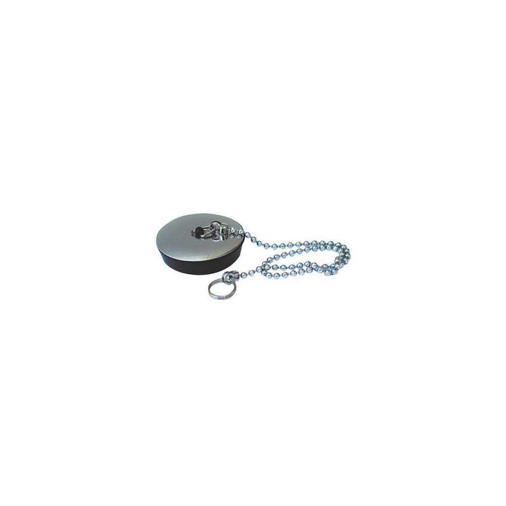 Tappo in gomma nera per vasca misura grande diam. 52 mm