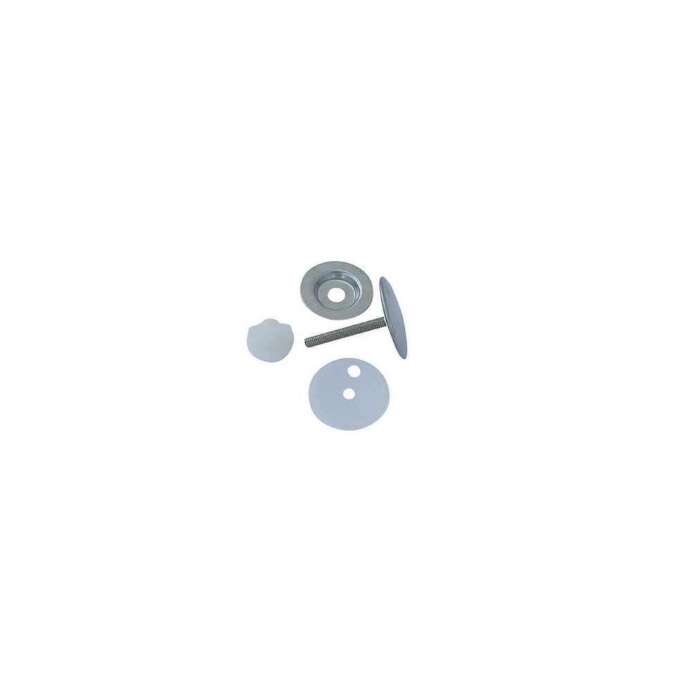 Copriforo cromato per lavabo bombato tipo leggero