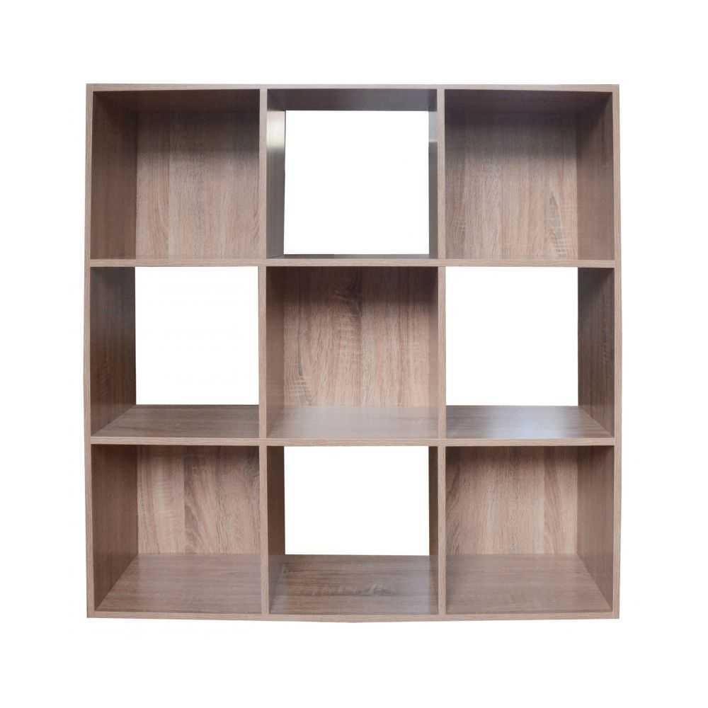 Libreria modello CUBO, 9 vani, colore rovere, cm 91x30xH91